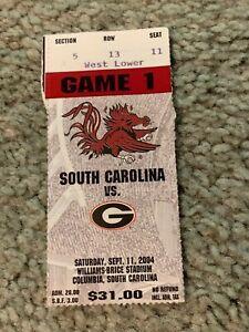 2004 Georgia Bulldogs v South Carolina Gamecocks Football ...