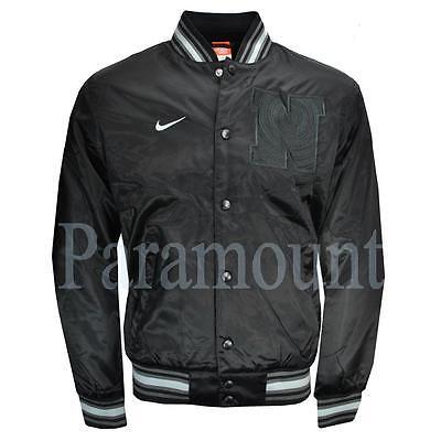 Nike Athletic Dept Satin Varsity Baseball Jacket  Mens Size