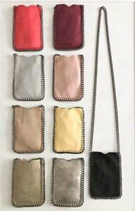 Crossbody-Bag-Phone-Pouch-Chain-Trim-Shaggy-Deer-Holder-Falabella-Fashion-Purse