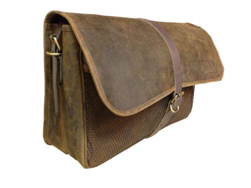braunes abnehmbarem beunruhigtes Dickes Leder Futter Laptoptasche tragen mit aqw4qC7d