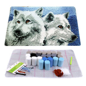 Details About Uk Wolf Latch Hook Rug Kit Diy Mat Needlework Yarn Cushion Embroidery Home Decor