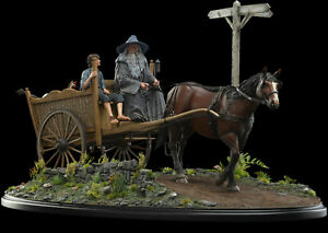 MASTERS-COLLECTION-GANDALF-amp-FRODO-ON-CART-LOTR-WETA-Limited-Edition-350