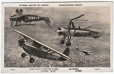 RARE Aviation RPPC - British National Day Tiger Moth Comper Autogiro 1932  Photo | eBay