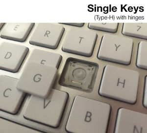 replacement keys type h for apple aluminum usb wired keyboard a1243 ebay. Black Bedroom Furniture Sets. Home Design Ideas