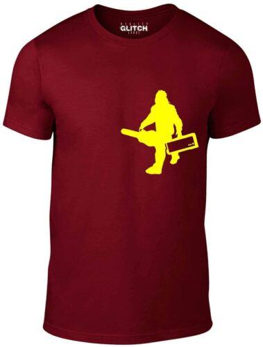 Reality Glitch Sasquatch Guitar Gear Men/'s T-shirt