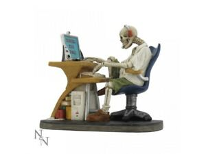 SURFED-TOO-LONG-14cm-Nemesis-Now-Skeleton-Ornament-Internet-Novelty-FREE-P-P