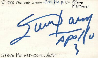 Movies Cards & Papers Steve Harvey Comedian Actor Tv Show Host Autographed Signed Index Card Jsa Coa