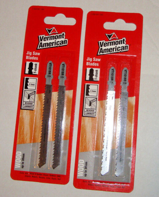 "Jig Saw Blades ""Vermont American""  VT101BR -pkts2 (4 blades) T-Shank free post"