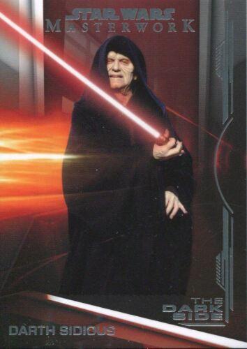 Star Wars Masterwork 2019 The Dark Side Chase Card DS-2 Darth Sidious