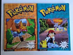 Lot-Livres-Pokemon-Ile-Des-Pokemon-Geants-amp-L-Attaque-Des-Pokemon-Prehistoriques