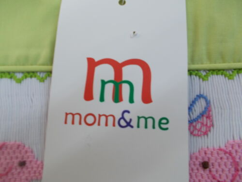 Infant /& Girls Mom /& Me Green Smocked Dresses w// Bloomers Size 3m Toddler 4