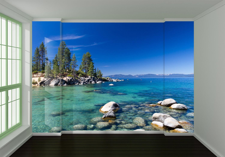 3D Ocean Stone Tree 8 Wall Paper Murals Wall Print Wall Wallpaper Mural AU Lemon
