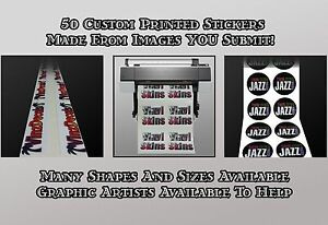 Professionally Printed Custom Vinyl StickersLabels Made From - Custom vinyl stickers logo
