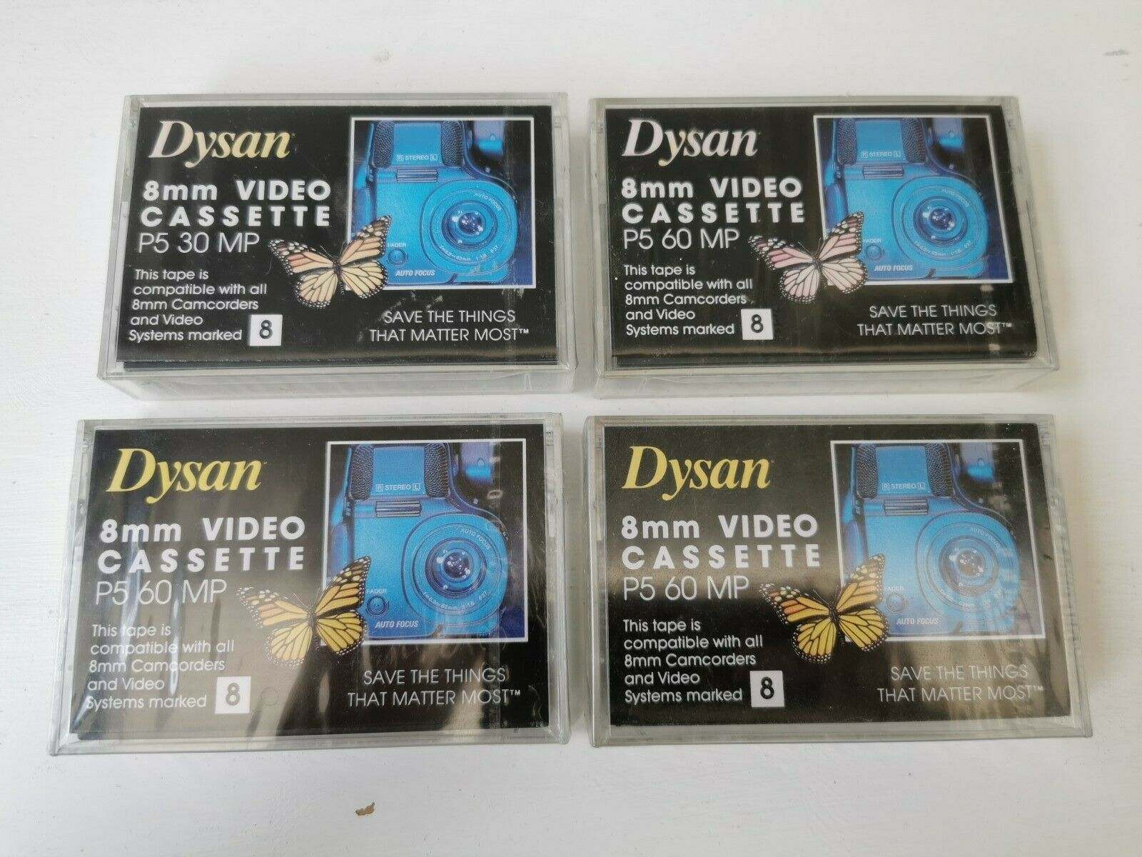 Dysan 8mm Camcorder Video Cassette Tapes P5 60 MP 30 MP Brand New Sealed