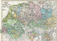 171 Jahre alte Landkarte SACHSEN Friesland Flandern Ostfriesland Lothringen 1846
