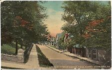Lincoln Avenue at Corner of Fifth Street in Charleroi PA Postcard 1913