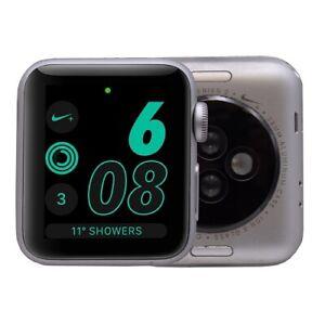Apple Watch Series 2 Nike 38mm Aluminum Gps Silver C Watch Only Ebay