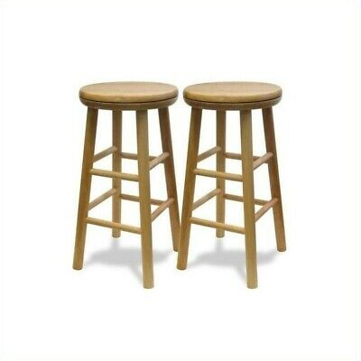 Incredible Winsome Basics 24 Beechwood Counter Swivel Bar Stools Set Of 2 21713888242 Ebay Pabps2019 Chair Design Images Pabps2019Com
