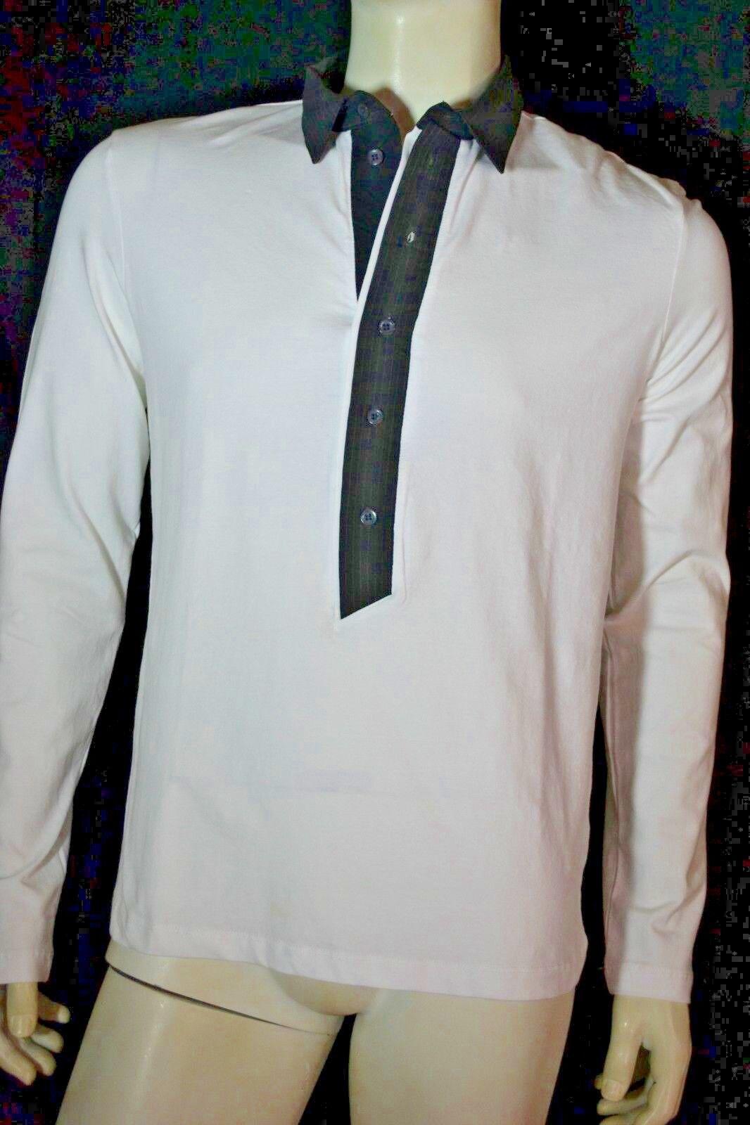 DIRK BIKKEMBERGS Pullover L pullover neu  NEW tags weiß mit Polokragen