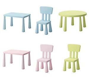 ikea mammut kids children 39 s table chairs plastic. Black Bedroom Furniture Sets. Home Design Ideas