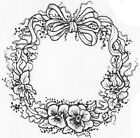 Unmounted Rubber Stamps, Pansies, Pansy Stamps, Pansy Wreath Set, Flowers, Sets