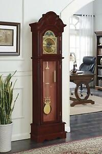 Grandfather Clock Brown Red And Clear - Height: 78.5 in Canada Preview