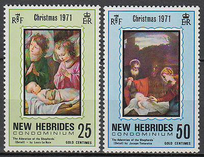 New Hebrides Hebriden 1971 ** Mi.311/12 Gemälde Paintings Louis Le Nain [st3471]