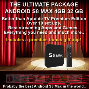 Android TV BOX S8 MAX UK 4K HDR - ✓Movies✓Sports✓Live TV