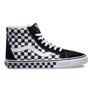 d75a739d690 Vans SK8 Hi Reissue Mens Skate Shoes Black White Checkerboard