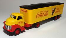 CUSTOM BUILT 1950 CHEVY COCA COLA TRACTOR TRAILER SEMI TRUCK COKE 1/43 O scale