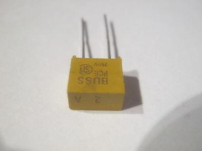 Miniatur Sicherung radial BK//PCB-2-R Bussmann  10 St=6,98 € flink 250V//AC 2A