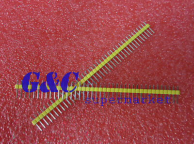 5PCS Yellow 2.54mm 40 Pin Male Single Row Pin Header Strip ZH1