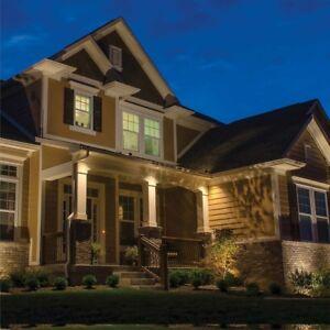 Details about VOLT Landscape Lighting Starter Kit 9 Light Hardwire with  Solid Brass Fixtures