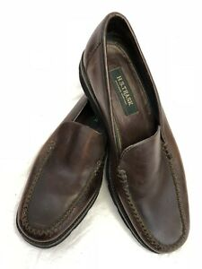 efd55b7926f H.S. TRASK Bozeman Montana Mens Brown Leather Loafers   Shoes ~ 11.5 ...