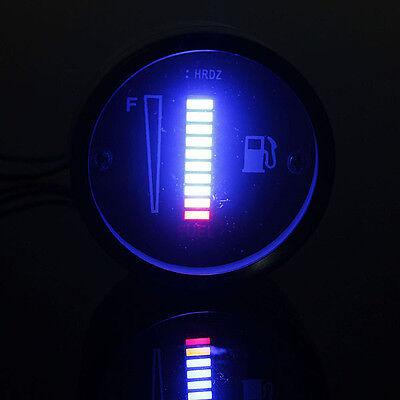 2'' 52mm 10 LED Car Motorcycle Truck Fuel Gauge Display Blue Light Digital 12V