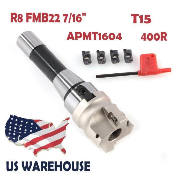 Carbide Insert R8 FMB22 Straight Shank Arbor 400R 50mm Face End Mill Cutter