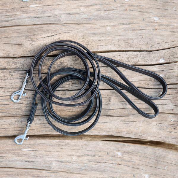 Kieffer Hundeleine Ultrasoft 160cm Länge braun oder schwarz Leder verstellbar  | Starke Hitze- und Abnutzungsbeständigkeit