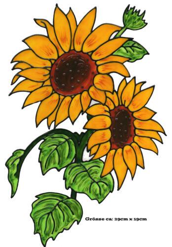 Fensterbild Window Color Bild Fensterfolie Blumen Sonnenblumen 040