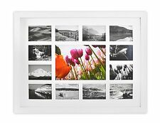 13-Opening 12x16-inch Collage Photo Wood Frame with White Mat & Real Glass,White