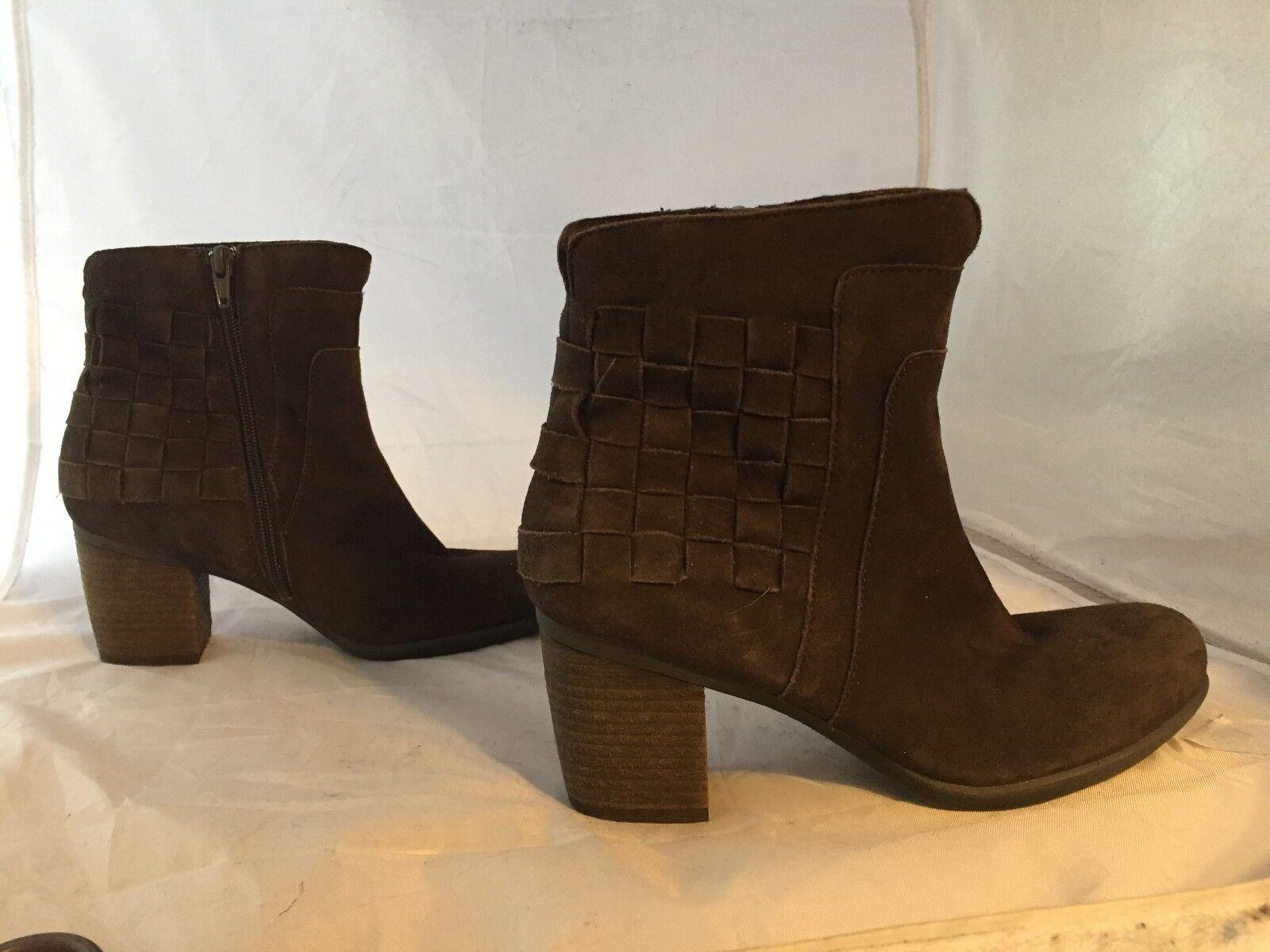 NEW JOSEF SEIBEL marron Suede Ankle démarrage, Woven, femmes Taille 36 (5.5 US)  160