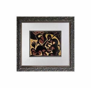 """Pablo Picasso LINOGRAVURE Ltd Ed. """"Pique (noir et beige)"""" 1959 +Custom FRAMING"""