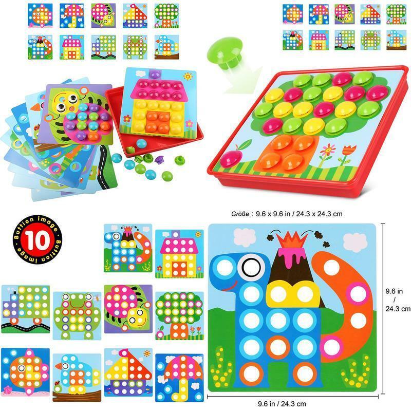 LVHERO Mosaik Steckspiel für Kinder ab 3 Jahre, Mosaiksteine mit Ø 3.5cm, Päd