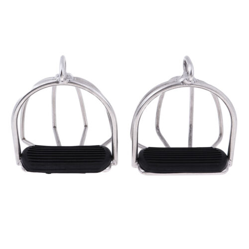 Safety Stirrups Optimum Leg Position Horse Riding Equestrian Stainless Steel