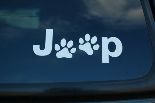 Jeep Dog Paw Stickers Vinyl Decals Off Road  4X4 Pick Size//Color! X2 V462X2