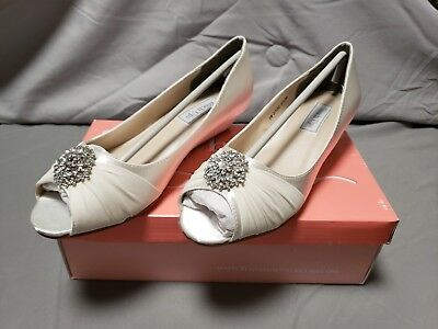 Touch Ups Dyeable Wedge Pump White Wedding Bridal Shoes Ebay