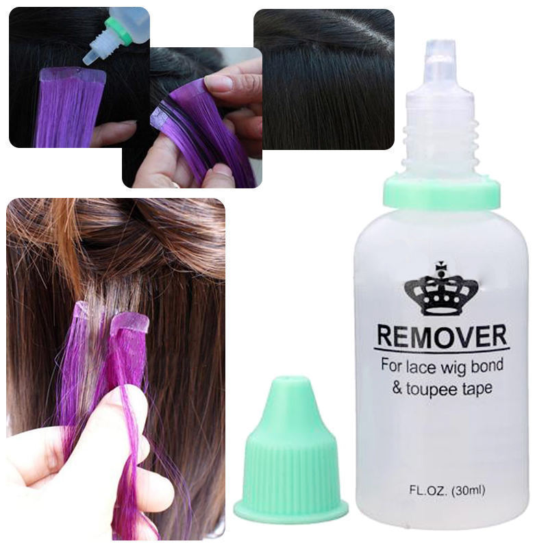 Hair Extensions Adhesive Tape Remover for Tape and Lace Wig Glue Bond 30ml