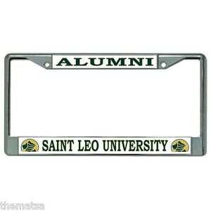 Alumni Saint Leo University Chrome Usa Made Car License