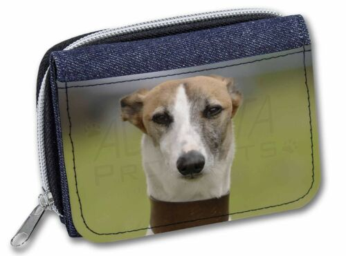 Whippet Dog Girls//Ladies Denim Purse Wallet Christmas Gift Idea AD-WH2JW