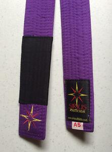 Sirius Brand Jiu-Jitsu Purple Belt Martial Arts Belt BJJ