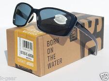 COSTA DEL MAR Pluma Sunglasses 580 POLARIZED Topaz White/Gray 580P NEW